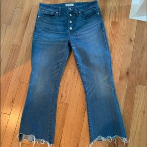 Madewell Cali Demi Boot Jeans (chewed hem)